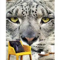 animal sounds tiger - Home Decor Wall Paper Art Mural HD Tiger Leopard Animal Entrance Covering Modern Painting for Living Room Wallpaper Papel De Parede