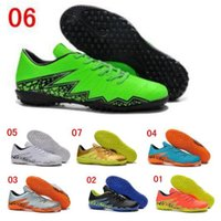 Wholesale Top Quality Indoor Sport Sneaker Shoes Men Football Shoes Cleats Hypervenom TF Soccer Shoes Sports Boots