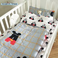 baby down duvet - New Arrived Hot Ins crib bed cottotton baby Bedding set include pillow case bed sheet duvet cover without filling