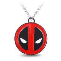 animate slide - BLE moive and Animated cartoon Deadpoo Logo Necklace Pendant Souvenir collection Gift ornament for boyfriends
