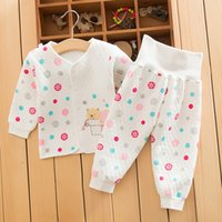 baby belly support - Winter baby three cotton underwear waist support belly trouser suit winter men and women baby warm underwear set