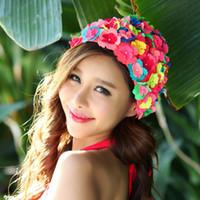 Wholesale Print Bathing cap swim cap Hair cap print pearl swimming cap