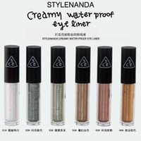 Wholesale 6 colors Flash liquid eyeliner Eyes shining liquid The corner of my eye fluid High Quality SUPERIA Waterproof Eye Makeup6