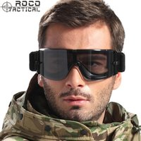 airsoft smoke - ROCO Military Airsoft Tactical Goggles Safety Glasses with Interchangeable Lenses Smoke Yellow Clear