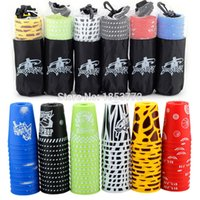 bags fly free - Yongjun Genuine12Pcs set Sport Flying Speed Stacking Cups Rapid Luminous Cups Set UFO Cups With Bags