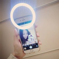 Wholesale 2017 Hot Sale Selfie Ring Light Case Fill in Light Flash Supplementary Lighting Night or Darkness For Most Mobile Phones Free DHL Shipping