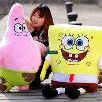 baby sponge bob - Dorimytrader Hot Cartoon SpongeBob Plush Toy Soft Stuffed Big Anime Patrick Star Sponge bob Doll Baby Present DY61281