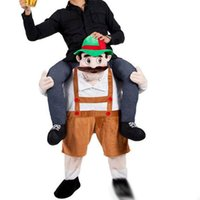 Wholesale Bavarian Beer Man Mascot Costume Carry Me Character Fancy Dress Ride On Halloween Costumes Funny Clothing