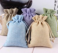 best drawstring bag - Best quality Natural Burlap Linen Fabric Favor gifts jewelry Bags Drawstring Pouch Gift Wedding Jewelry Pouches size factory sale