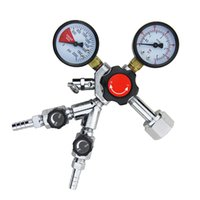 bar kegerator - Co2 Regulator Dual Gauge Double Joint Draft Beer Homebrew Kegerator Heavy Duty Bar Pub