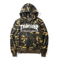 Wholesale 2017 new camo hoody sweatshirt mens trasher hoodies streetwear hooded pullover sweatshirt clothing kanye clothes hiphop hoodies