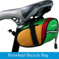 Wholesale ROSWHEEL Outdoor Cycling Bike Bicycle Saddle Bag MTB Back Seat Tail Pouch Package Green Red Blue