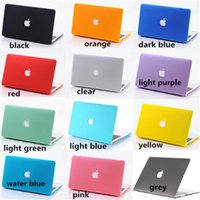 No Zipper Unisex Fasion Macbook Matte Case Frosted Plastic Cover for All Macbook Size Hollow Out Logo or Not Fashion Colorful