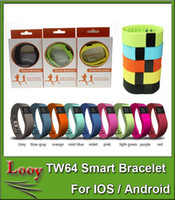 Wholesale TW64 wristband Smart Band Fitness Activity Tracker Bluetooth Smartband Sport Bracelet colors for android ios