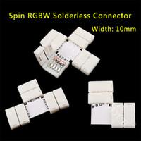 Wholesale pin LED Strip Clip pin RGBW RGBWW LED Strip Connector For mm width RGB W RGB WW Light Strips