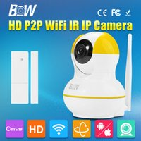 automatic security doors - BW Mini IP Camera Door Sensor P2P P HD IR Cut Night Vision mm Endoscope GSM Burglar Automatic Alarm Security CCTV P T