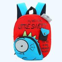 picnic backpack - Dinosaur kids backpacks baby picnic travel bag waterproof schoolbags boys girls cartoon printed bookbags children gift