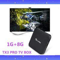 Wholesale 100PCS TX3 PRO Android6 Marshmallow TV Box Amlogic S905X KODI Fully Loaded WiFi GB GB Better MXQ PRO