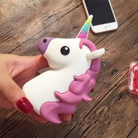 Wholesale 2016 New Emoji Power Bank Portable Battery MAH Charger Unicorn Cartoon USB Bateria For Iphone S S S SE Xiaomi Sumsung