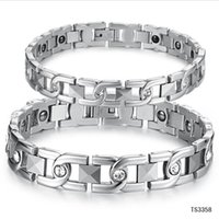 balance energy bars - Chain Link Lovers Bracelet Anti Fatigue Energy Balance Women Men Bracelets L Stainless Steel Healthy Jewelry GS3358