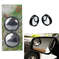 Wholesale 2pcs Car Blind Spot Mirror Clear Wide Angle Adjustable Car SUV Rearview Parking Side Blind Spot Mirror