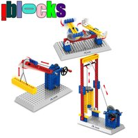 aids science - 3 Styles Science Teaching Aids EMBOSSING MACHINE Building Blocks Mechanical Engineering For Children Education Toys