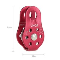 Wholesale LIXADA KN Outdoor Travel Kits Climbing Rope Pulley Single Fixed Pulley Rope Climbing Rappelling Survival Equipment