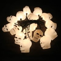 Wholesale Christmas Halloween party decoration decoration items Skeleton ghost light pumpkin string with tail