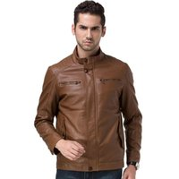 best mens coats - Waterproof Windproof Skinny Leather Polo Neck Men Jacket Best Seller Leather Jacket Coat Male Leather Jacket Men Mens Leather Jackets Coats
