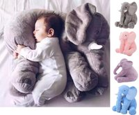 baby bedding animals - 60cm Baby Animal Elephant Style Doll Stuffed Elephant Plush Pillow Kids Toy for Children Room Bed Decoration Toys Color b502