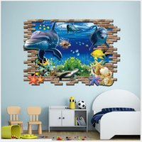 Wholesale 3D Cartoon Finding Dory Wall Stickers Home Decor D Marine Underwater World For Kids Room Wall Stickers Christmas Birthday Gift For Children
