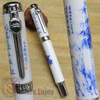 bamboo fountain pen - JINHAO BAMBOO MEDIUM NIB FOUNTAIN PEN BLUE AND WHITE PORCELAIN