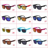al por mayor gafas de sol baratas-33 colores marca con la venta de Ken Block timón gafas de sol multicolor caliente Capa de la lente de los hombres Gafas de Sol Gafas de sol barato de gafas