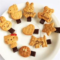 animal shaped cookies - Girls Kids Baby Cute Biscuit Cartoon Shape Hair Clip Simulation Animal Cookie Biscuit Headwear Hair Rope Accessory