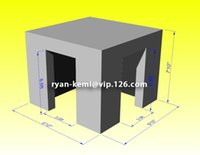 kiosk - custom m inflatable photo kiosk with color changing LED light with remote control