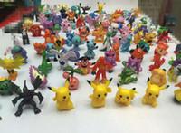 Wholesale Poke Figures Toys cm Children cartoon Pikachu Charizard Eevee Bulbasaur Suicune PVC Mini Model Toys For kids Action Figures JF