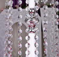 acrylic octagon beads - Acrylic Clear Crystal Beads Wedding Birthday Party meter long crystal beads road wedding accessories crystal beads octagon beads WT030