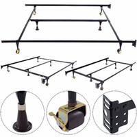 Wholesale GOPLUS Metal Bed Frame Adjustable Queen Full Twin Size W Center Support HW51393