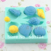 baked seafood - Sugar biscuits cake baking mould liquid silica gel mould ocean seafood style g09