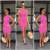 Wholesale 2016 hot sale Our Explosion Slim Slim Package Hip sleeveless dress hot ladies pure nightclub Bottoming Shirt