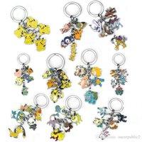 Wholesale 2016 new hotAnime sell Cartoon keyring Pocket Monsters Keychain Alloy Animal Keyring Metal Figures Key Chains