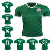 Wholesale new mexico soccer jerseys thai quality Season mexico shirt G DOS SANTOS CHICHARITO O PERALTA soccer football Jersey