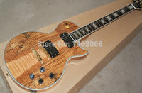 Wholesale 2016 New arrival G L CT wood Electric guitar with golden tuning keys electric guitar black pickup