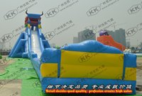 adult water slides - 50m Length Blue Dragon Largest Inflatable Water Slide For Adult Water Park