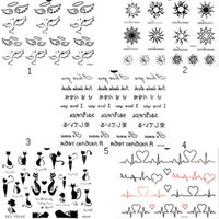 Wholesale 5 Sheets Fashion Body Art Stickers Removable Waterproof Temporary Tattoo NEWNew Fashion Removable Waterproof Temporary Tattoo Body Art Stick
