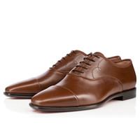 Acheter Rouges à semelles chaussures habillées-Vente en gros de qualité supérieure de marque rouge de luxe Bottom Business Wedding Dress Party Men, Sole Greggo Oympio chaussures 39-46