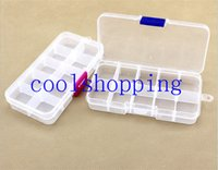 Wholesale 10 Grids Plastic Plectrum Case Storage Box Adjustable Grid Size Keep Your Guitar Picks and Other Small Things