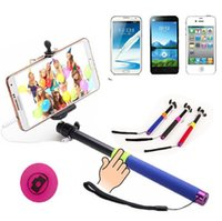 Wholesale 500Set in Wired Selfie Stick Handheld Extendable Monopod For iPhone Android Smart Phone No need to connect Bluetooth
