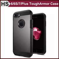 best hybrids - bEST Tough Armor Case For iPhone S Plus Plus Dual Layer Soft Black TPU Hard PC Hybrid Shockproof Back Cover DHL
