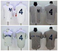best baseball uniforms - Best Quality Lou Gehrig Jersey New York Yankees Baseball Jerseys Lou Gehrig Uniforms Cooperstown White Pinstripe Gray Beige